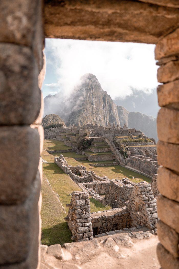 Ancient Ruins of Machu Picchu in Peru
