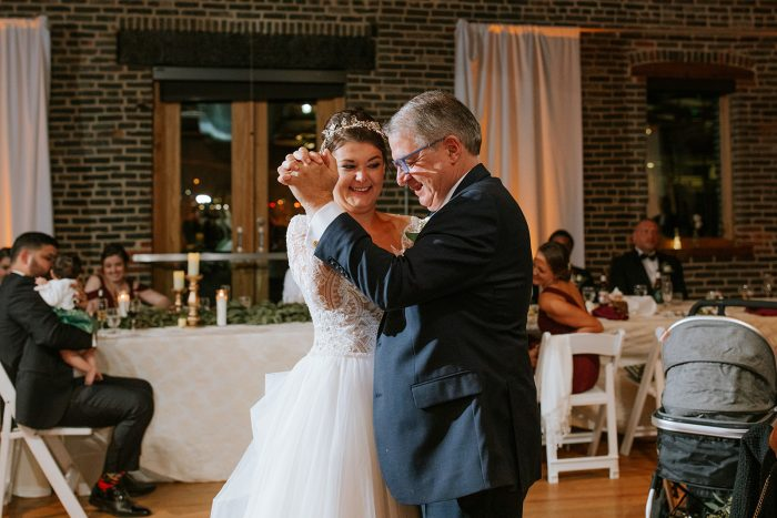 Father of the Bride Dancing with Bride During Father Daughter Dance