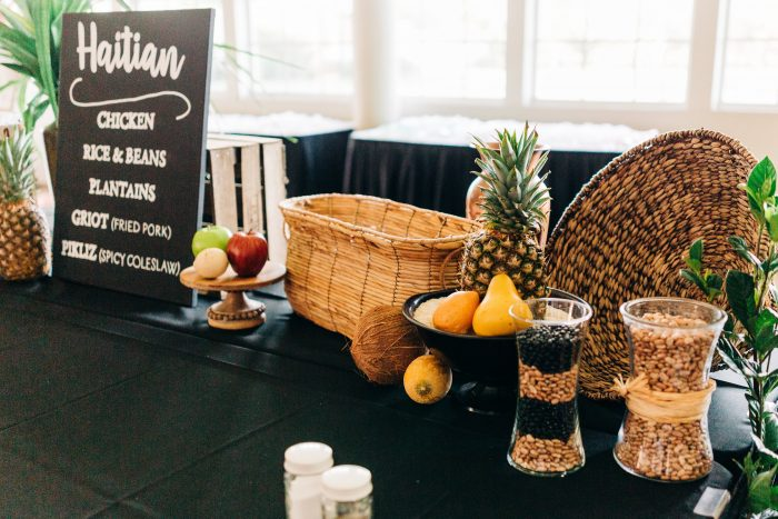 Haitian Food at a Real Wedding in Florida
