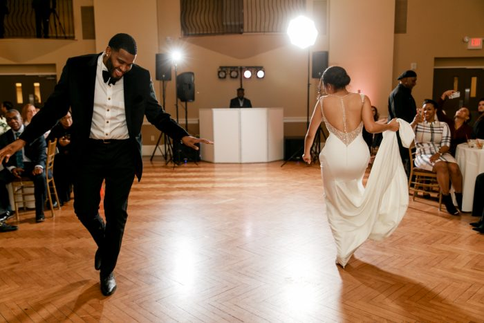Real Bride and Groom Dancing to Upbeat Song During Unique First Dance