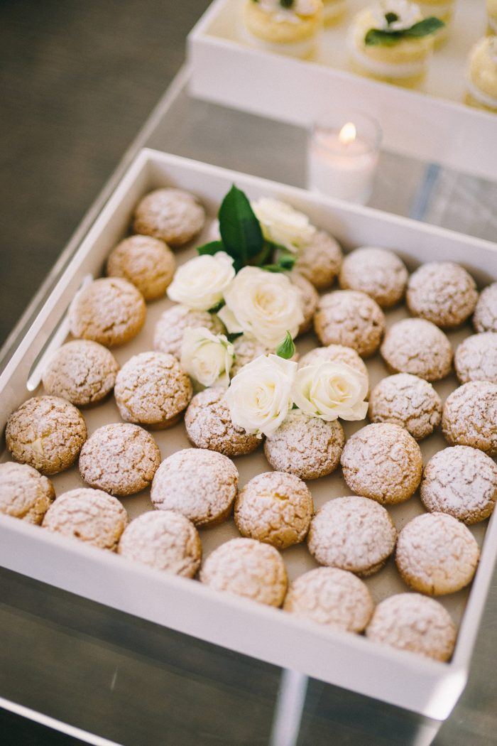 Tray of Gingersnap Cookies with Sprinkled Sugar for Reception