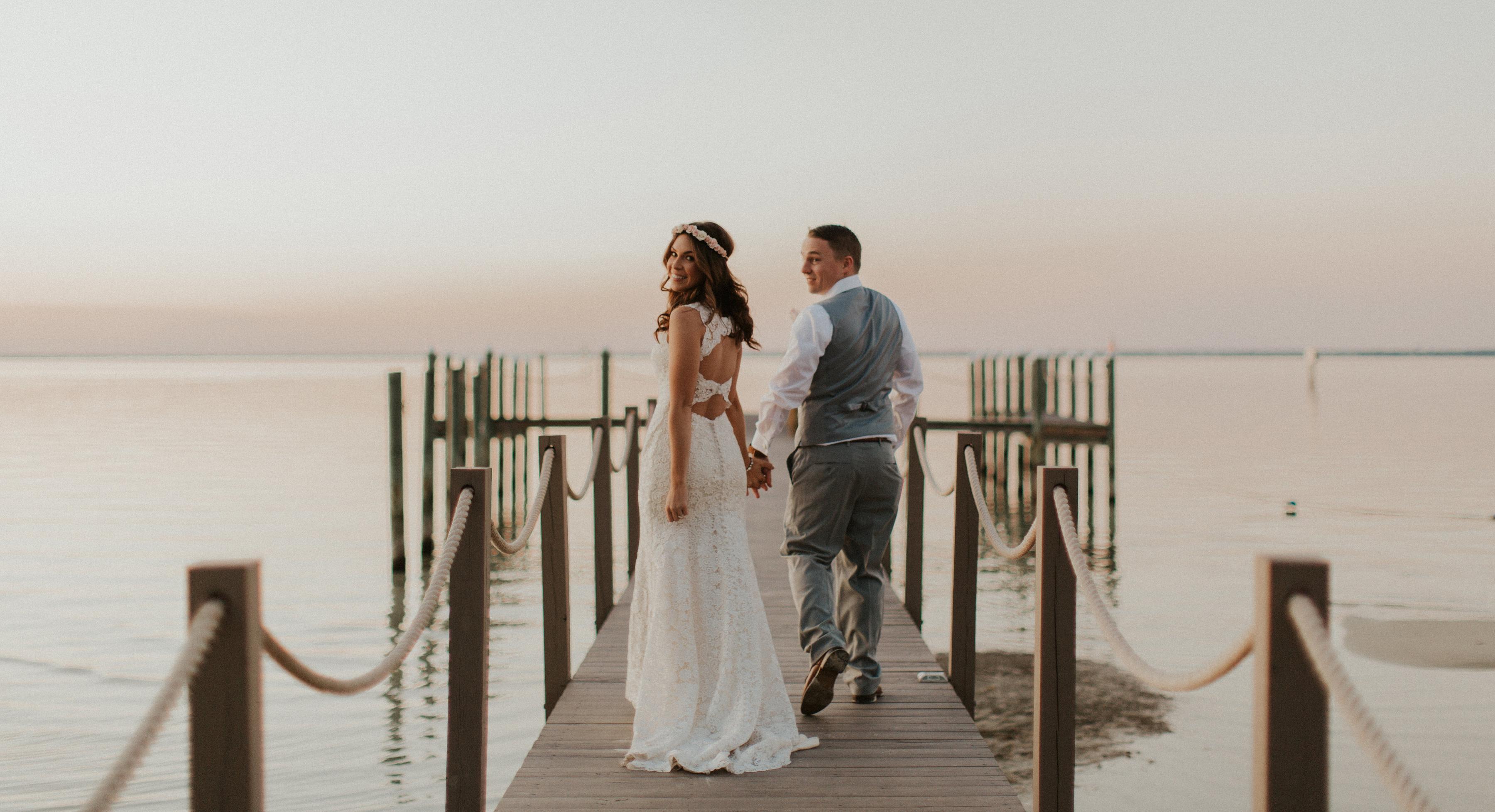 Bride Wearing Budget-Friendly Wedding Dress Called Hope by Rebecca Ingram