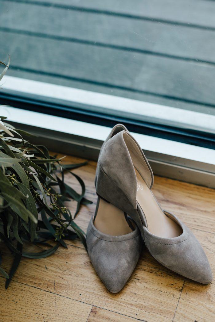 Grey Closed Toe Wedding Shoes for Wedding