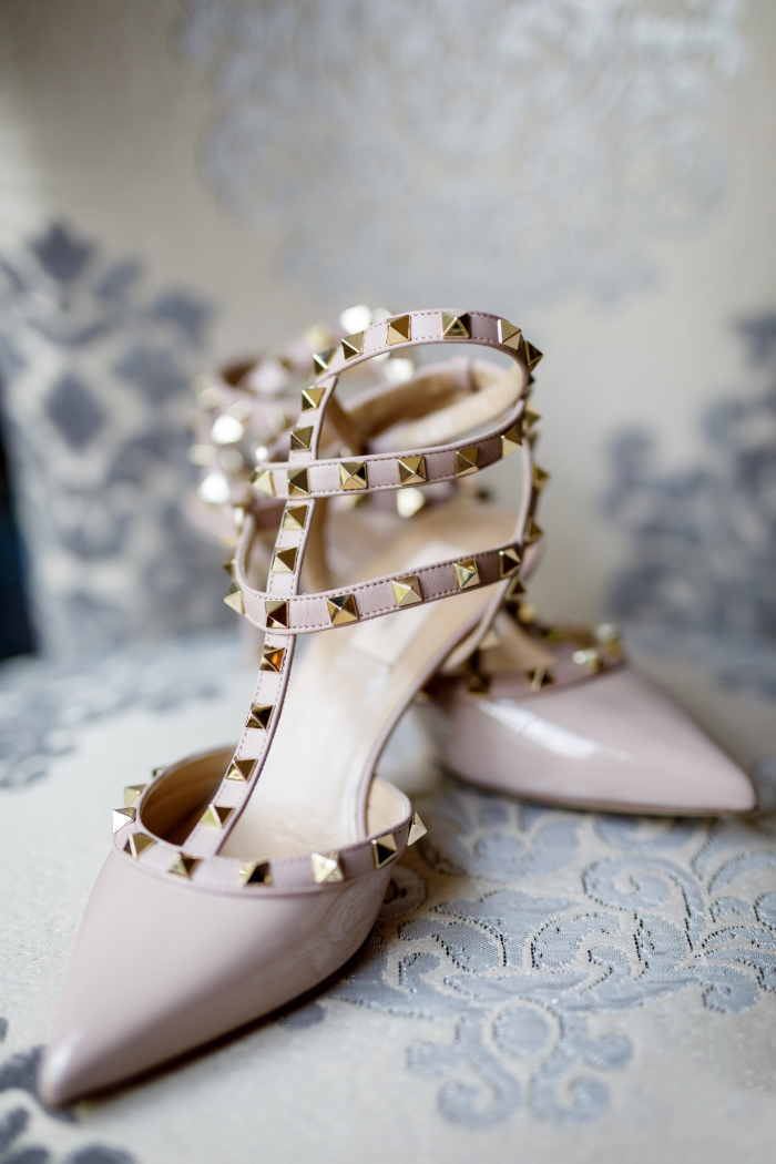 Pink Rockstar Studded Heels for Alternative Wedding