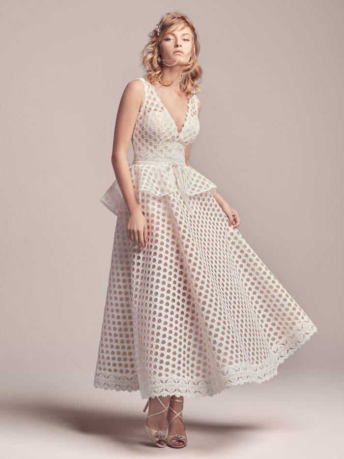 Unique Retro Wedding Dress Called Reggie by Rebecca Ingram