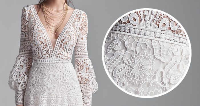 Finley Lace Wedding Gown by Sottero and Midgley Close up of the Lace