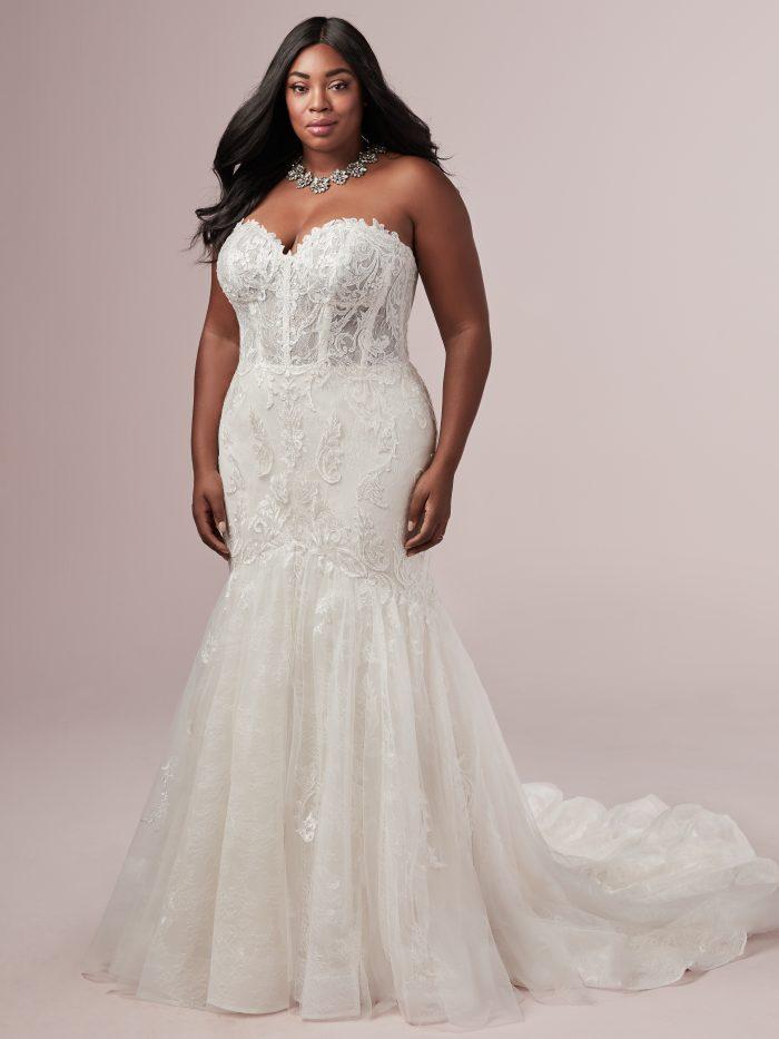 Flattering Wedding Dresses for a Plus Size Bride - Jennifer by Rebecca Ingram