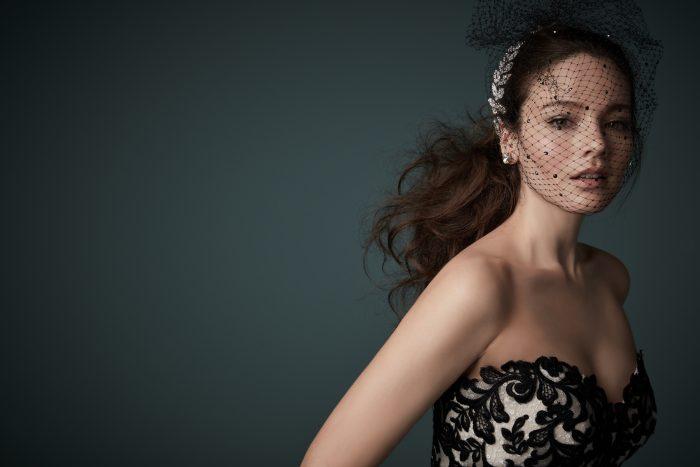 Tristyn Black Lace Ballgown Wedding Dress