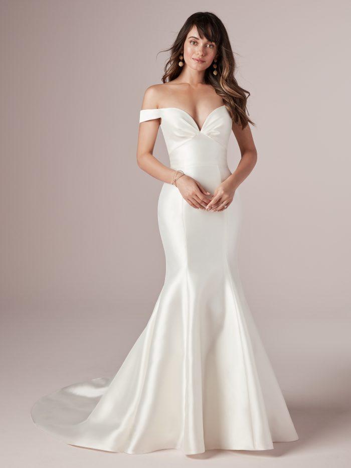 Cindy Simple Mermaid wedding dress by Rebecca Ingram