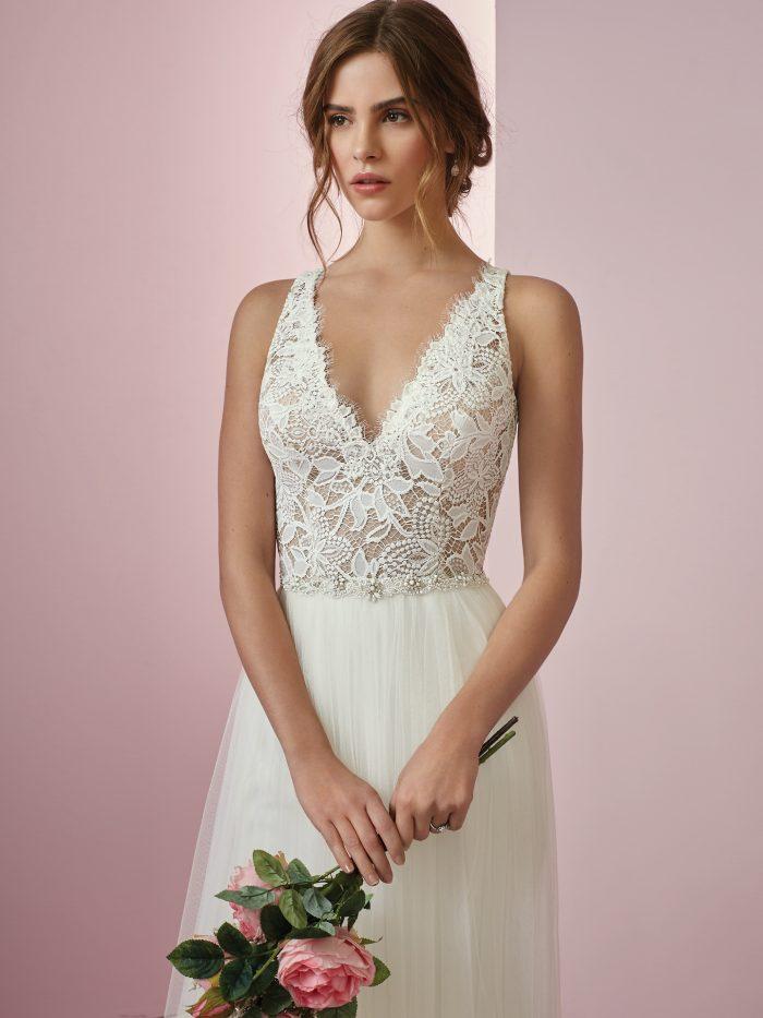 Connie Lace Sheath Wedding Dress by Rebecca Ingram