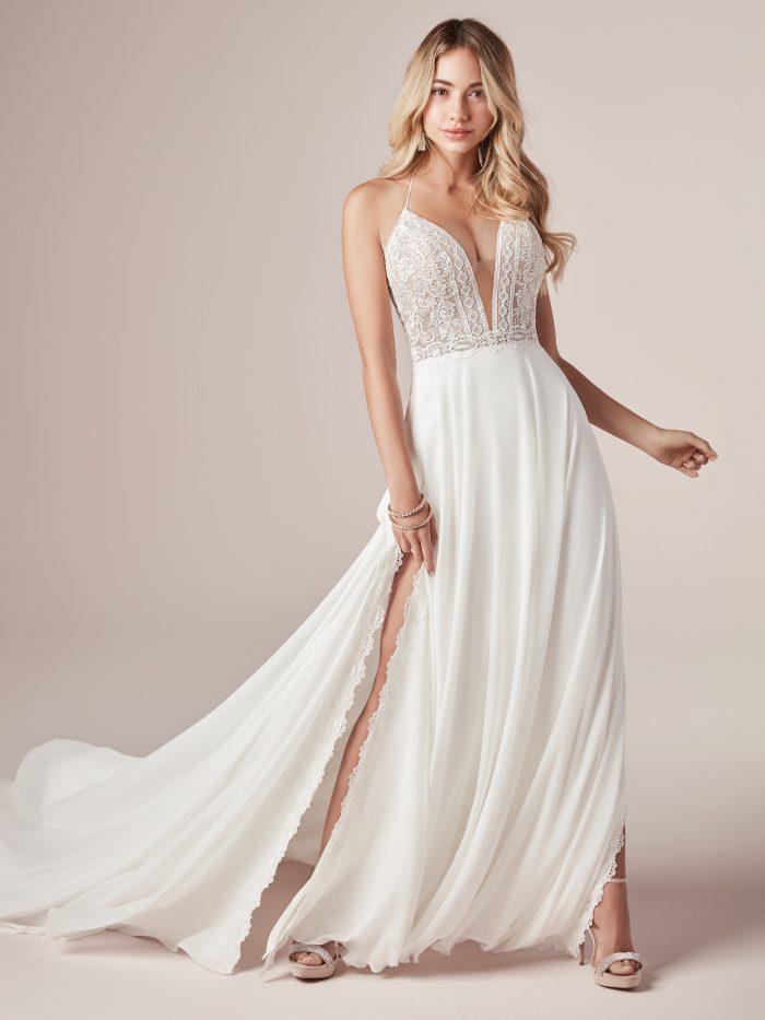 Nicole Lace Sheath Wedding Gown by Rebecca Ingram