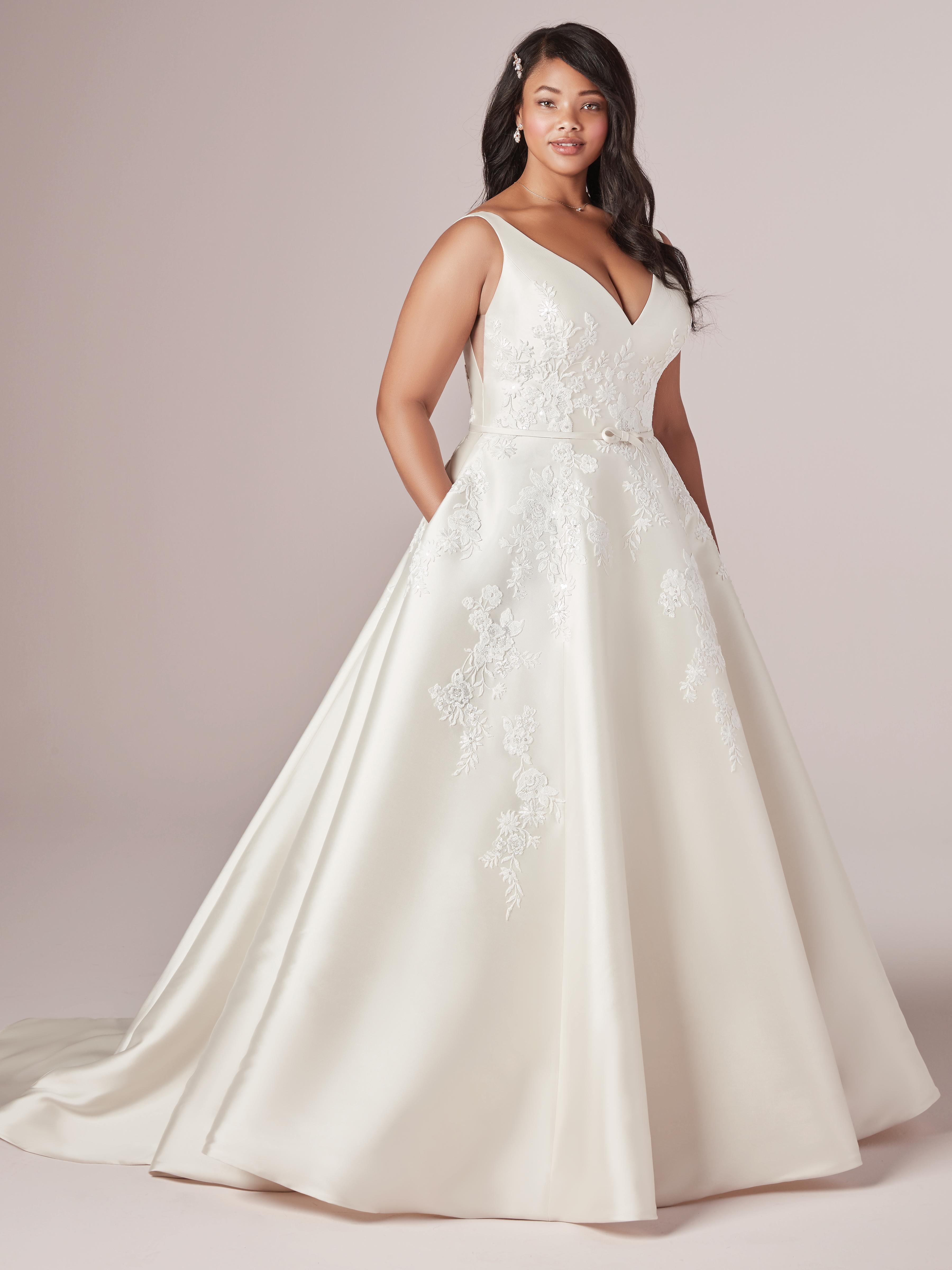 Valerie Lynette Lace Ballgown Wedding Dress by Rebecca Ingram