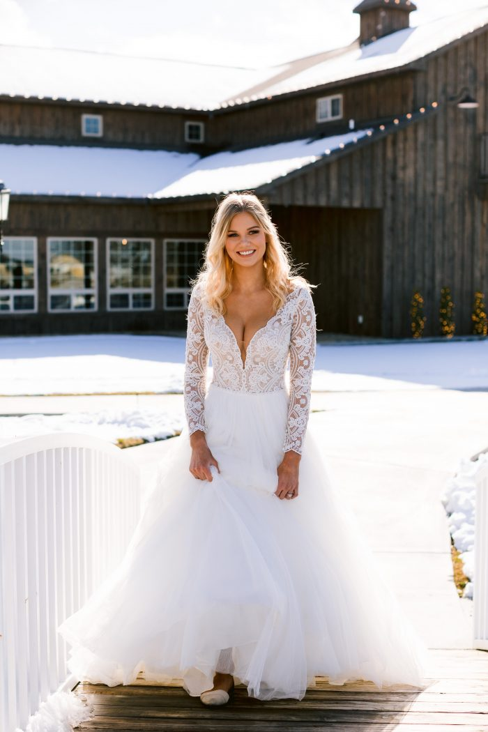 Real Bride Tulle Ball Gown Called Mallory Dawn Maggie Sottero