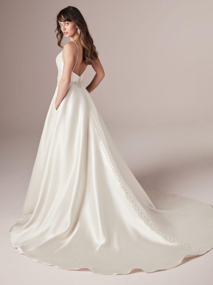 Yara Satin Aline Wedding dress by Rebecca Ingram