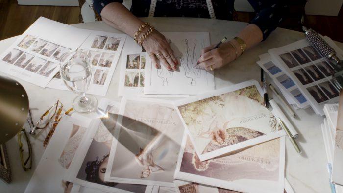 Maggie Sottero Bridal Designer Sketching Wedding Dresses