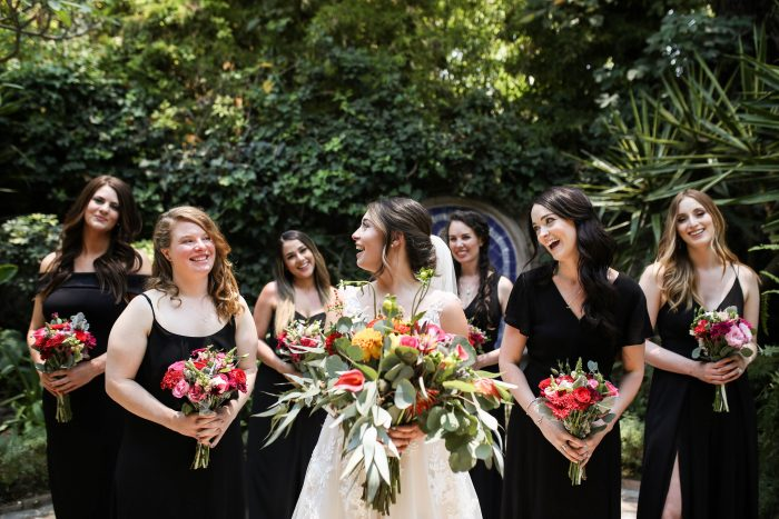 Real Maggie Bride with her Bridesmaids