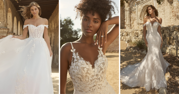 Collage of Models Wearing New Wedding Dresses from Maggie Sottero's Spring 2022 Collections
