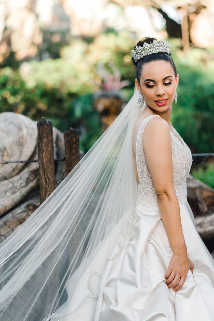 Real Bride at Fairytale Wedding Wearing Princess Wedding Dress Mylene by Maggie Sottero