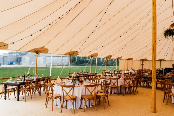 Tent to Cover an Outdoor Wedding in Case of Rain
