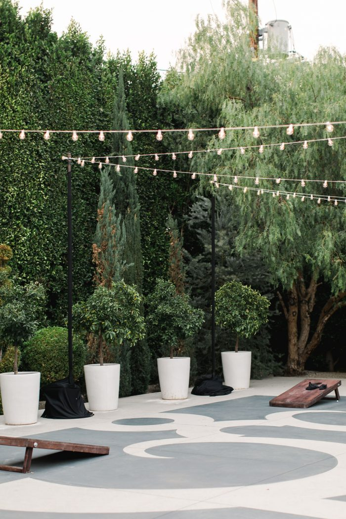Fairy Lights at Outdoor Reception