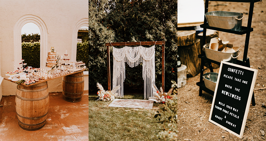 Collage of DIY Wedding Ideas and Homemade Decor from Real Brides