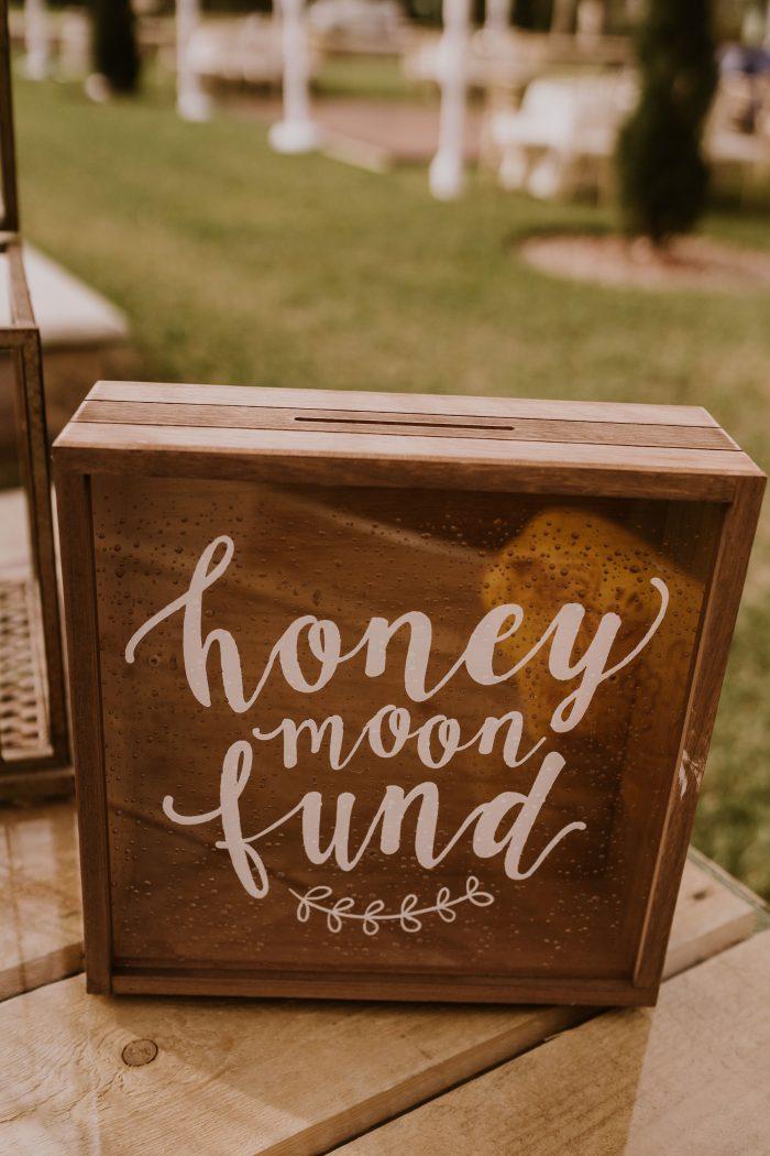Cute Wooden DIY Honeymoon Fund Box