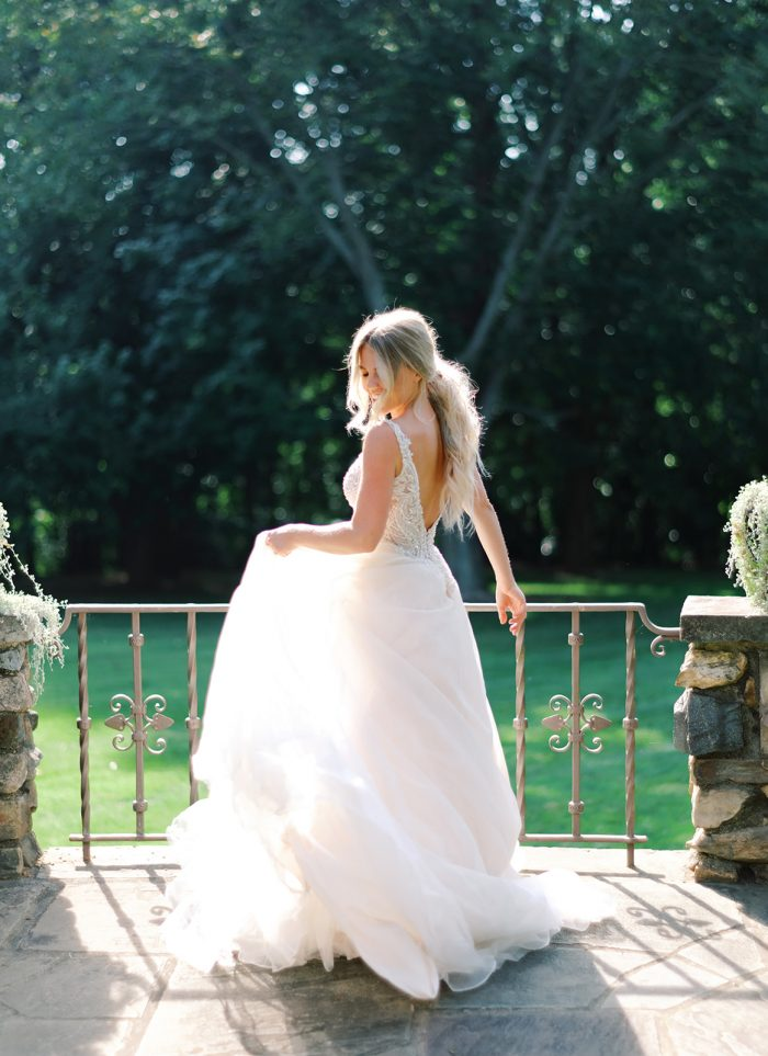 Sparkly Boho Ball Gown Wedding Dress Called Taylor by Maggie Sottero
