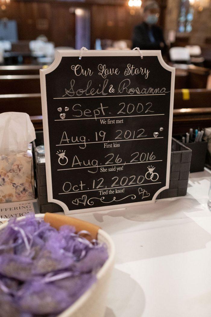 Love Story Sign for Pride Wedding Idea at LGBTQ Wedding