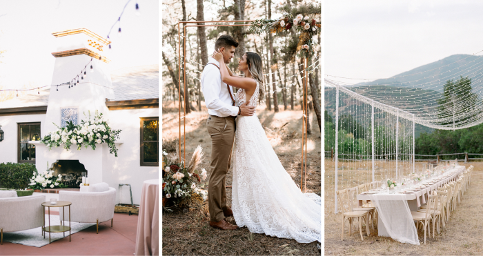 Collage of Outdoor Wedding Ideas for a Whimsical Celebration
