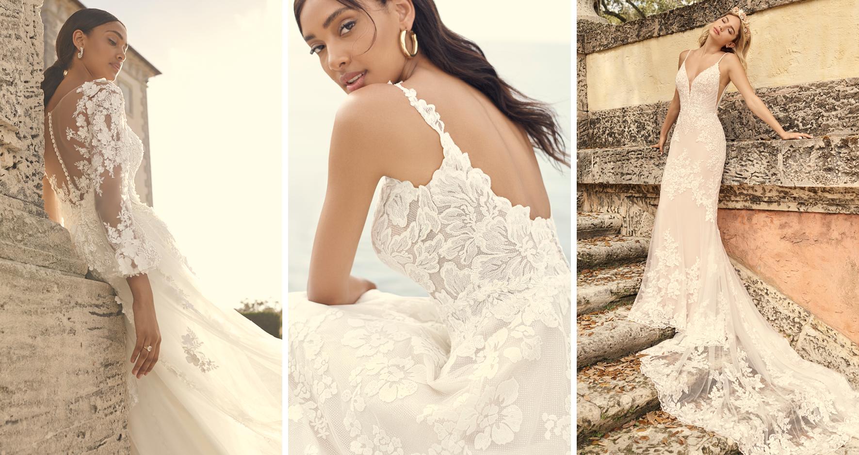 Models Wearing Zodiac Sign Wedding Dresses