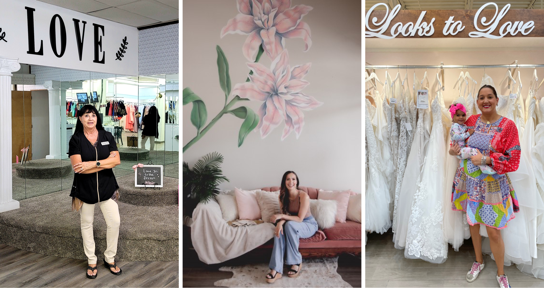 Collage of Hispanic-Owned Boutique Owners